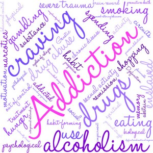 67608799 - addiction word  cloud on a white background.